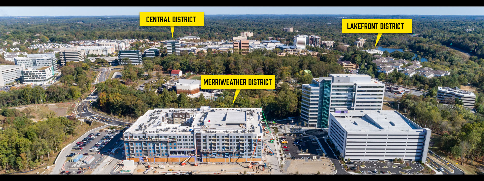 Central, Merriweather and Lakefront Districts